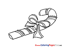 Candy Coloring Sheets Advent free