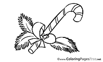 Candy printable Advent Coloring Sheets
