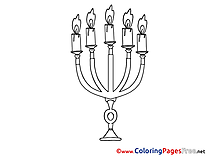 Chandelier Kids Advent Coloring Page
