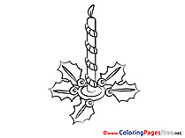 Children Advent Colouring Page Candle