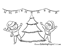 Children Coloring Pages Advent for free