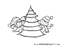 Children printable Advent Coloring Sheets
