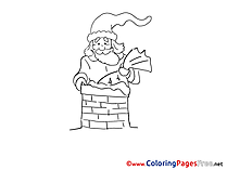 Chimney Advent free Coloring Pages