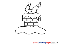 Chimney Kids Advent Coloring Page