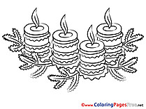 Christmas for Kids Advent Colouring Page