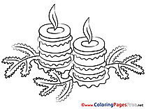 Christmas free Advent Coloring Sheets