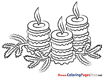 Christmas printable Coloring Pages Advent