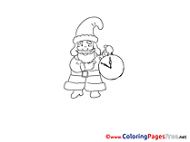 Clock download Advent Coloring Pages