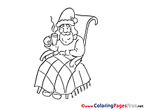 Coffee Kids Advent Coloring Pages