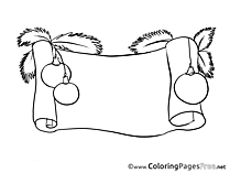 Decoration printable Advent Coloring Sheets