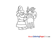 Deer Coloring Pages Advent for free