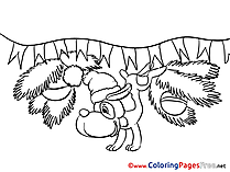 Dog Coloring Sheets Advent free