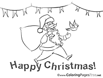 Flags Colouring Page Advent free