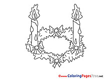 Flame free Colouring Page Advent Candle