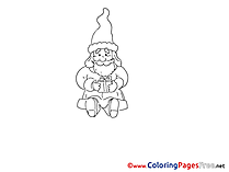 Gift for Kids Advent Colouring Page