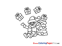 Gift printable Coloring Pages Advent