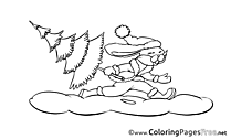 Hare printable Coloring Pages Advent