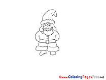 Hat Santa Claus Advent Coloring Pages download