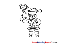 Holiday Coloring Pages Advent for free Santa Claus