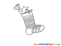 Holiday Coloring Sheets Advent free Stoking