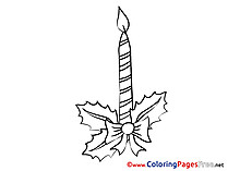 Holiday Colouring Page Advent free Candle