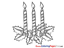Kids Advent Candles Coloring Page