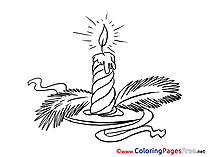 Light Flame Advent Colouring Sheet free