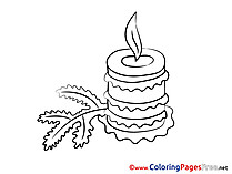 Light printable Coloring Pages Advent Candle