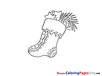 Present Advent Coloring Pages free