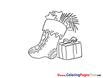 Present download Advent Coloring Pages Stoking