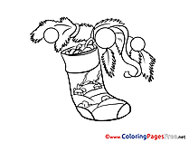 Present free Colouring Page Advent