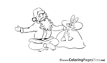 Rabbit Advent Coloring Pages free