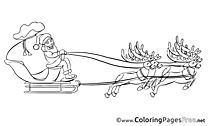 Santa Claus for Kids Advent Colouring Page