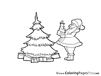 Santa Claus printable Coloring Pages Advent