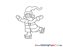 Skates Colouring Sheet download Advent