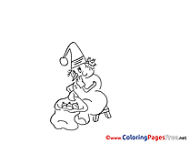 Snowman free Advent Coloring Sheets