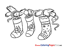 Socks Coloring Pages Advent for free