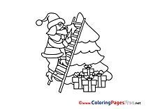 Stairs Coloring Sheets Advent free