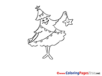 Star Advent free Coloring Pages Fir-tree