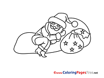 Stars Advent free Coloring Pages