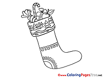Sweets Kids Advent Coloring Pages
