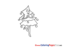 Tree for Kids Advent Colouring Page