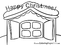 Window Children Advent Colouring Page