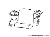 Wish List Children Advent Colouring Page