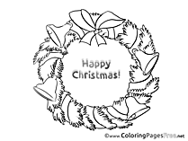 Wreath download Advent Coloring Pages