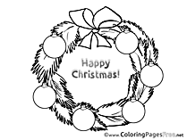Wreath Kids Advent Coloring Pages