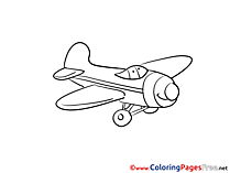 Airplane for Kids download Coloring Pages