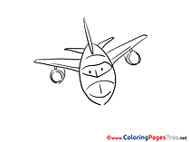 Airplane free Colouring Page download