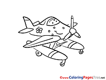 Download Plane printable Coloring Pages