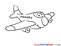 Kids Airplane download Coloring Pages